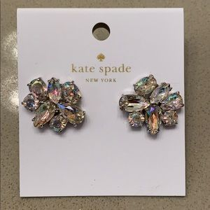 8f197fee5fb55 Kate Spade White Patina Cluster Earrings NWT